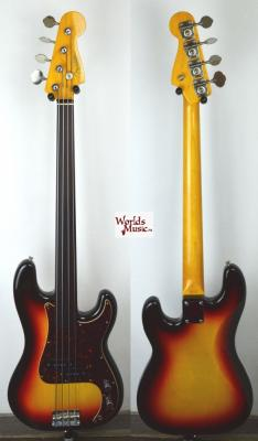 VENDUE... FENDER Precision Bass fretless PB'62 FL 2005 japon *OCCASION*