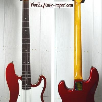 VENDUE... FENDER Precision Bass 62' BOUND Aerodyne 2004 Candy Apple Red