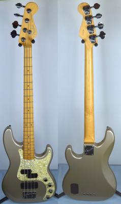 VENDUE ... FENDER Precision Bass AMERICAN DELUXE Grey 1997 US *OCCASION*