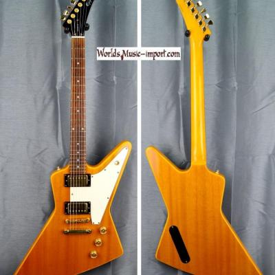 VENDUE... Epiphone by GIBSON EXPLORER type 76' Gold Antique Nat. Gloss 2000 Import *OCCASION*