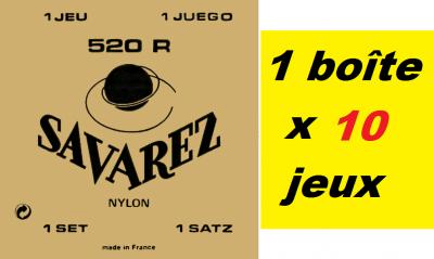 10 x Jeux SAVAREZ Rouge 520R classique