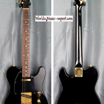 VENDUE... FENDER Telecaster TL-80-55 Matching Head Black/Gold 1988 JAPON Import *OCCASION*