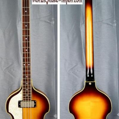 VENDUE... GRECO Violin Bass VB-500 LH Sunburst 1985 'Gaucher' Beatles japon import *OCCASION*