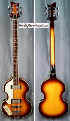 GRECO Violin Bass VB-500 LH Sunburst 1985 'Gaucher' Beatles japon import *OCCASION*