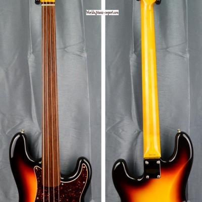 VENDUE... FENDER Precision Bass PB'62 FL 3CS Fretless 2008 'RARE' Hors-Catalogue Japon Import *OCCASION*