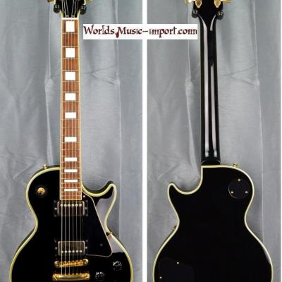 VENDUE... BURNY Les Paul Custom Black RLC 2008 import *OCCASION