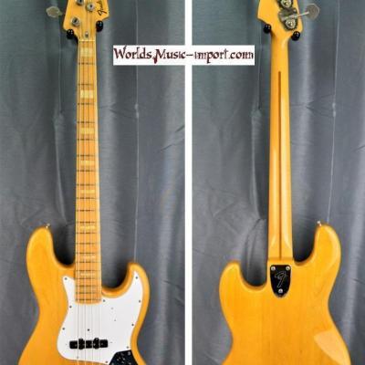 VENDUE... Fender Jazz Bass JB'75-75 Nitro ASH Natural 1989 japon import *OCCASION*
