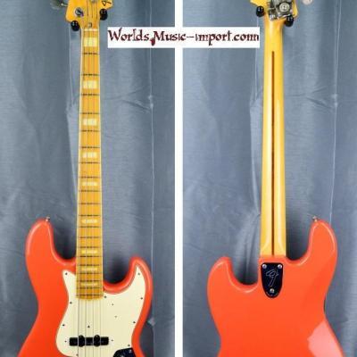 VENDUE... FENDER Jazz Bass JB'75-US 1996 Active Bartolini Fiesta Red 'RARE' *1ère série* japan import *OCCASION*