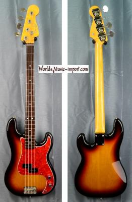 VENDUE... FENDER Precision Bass PB'62 US 'order made' 3 TS 1993 Japon import *OCCASION*