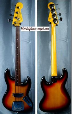FENDER Jazz Bass JB'62-US FL 3ts Fretless 2004 japon import *OCCASION*