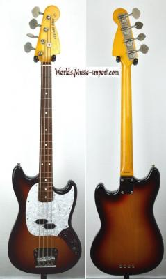 VENDUE... FENDER MUSTANG BASS MB-98-70 SC Sunburst 2011 RARE Import Japon *OCCASION*