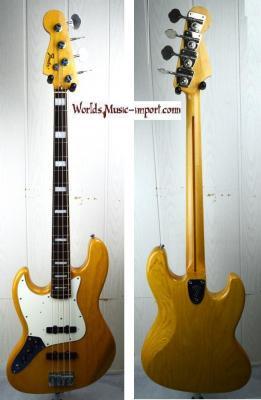 VENDUE... FENDER Jazz Bass JB'75-US LH ASH NAT 2004 'gaucher' japon import *OCCASION*