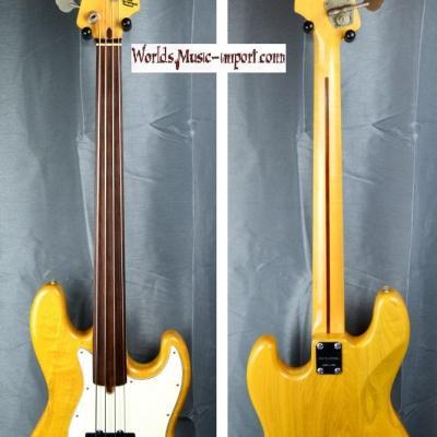 VENDUE... Greco Jazz Bass Mercury FL Fretless  ASH 1973 natural ' Hors Catalogue' RARE japon import *OCCASION*