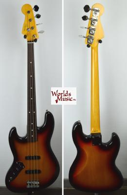 VENDUE...... FENDER Jazz Bass 62' Left Hand FRETLESS 2010 Japon SUNBURST  *OCCASION*