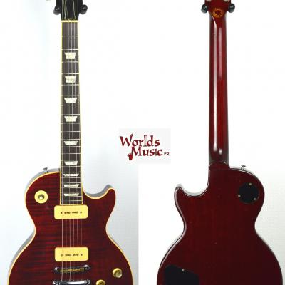 VENDUE... GIBSON Les Paul Deluxe Flame Top 'Limited Edition' P90 winered 1999 US RARE Import *OCCASION*