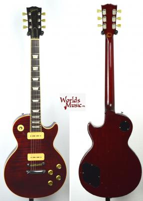 GIBSON Les Paul Deluxe Flame Top 'Limited Edition' P90 winred 1999 US RARE Import *OCCASION*