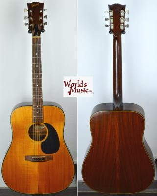 VENDUE... GIBSON Folk Blue Ridge CUSTOM 1970 Naturelle USA Import *OCCASION*