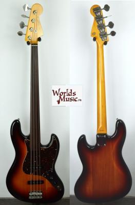 VENDUE... FENDER Jazz Bass 62'FL 3TS FRETLESS 'sans repères' 1985 RARE Japon POST JV  *OCCASION*