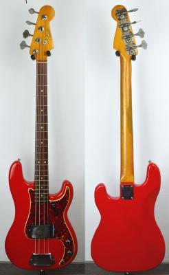 VENDUE... FENDER Precision Bass USA série L 1965 Red Import *OCCASION*