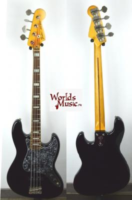 VENDUE... FENDER Jazz Bass JB'75-80 ASH 1986 Black Japon Import  *OCCASION*