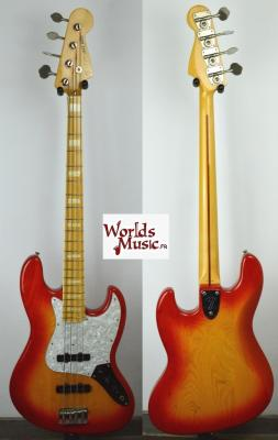 VENDUE...   FENDER Jazz Bass JB 75-100 US Orange Burst 2002 RARE Import Japon *OCCASION*