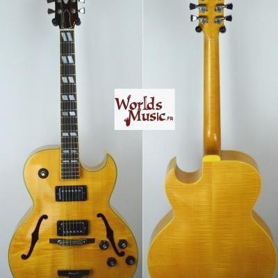 VENDUE... GRECO N-60 Jazz Natural Flame Maple 1977 Japon ES175 copie *OCCASION*