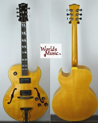 VENDUE... GRECO N-60 Jazz Natural Flame Maple 1977 Japon ES175 copie *OCCASION*