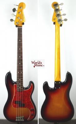 VENDUE... FENDER Precision Bass PB'62-US reissue Sunburst 3TS 1999 Import *OCCASION*