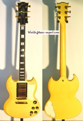 VENDUE... GIBSON LES PAUL 61' SG CUSTOM 1988 White USA import *OCCASION*