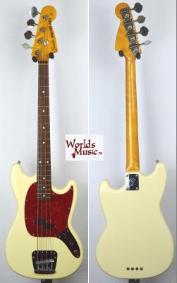 VENDUE... FENDER Mustang BASS 1997 White JAPAN RARE import *OCCASION*