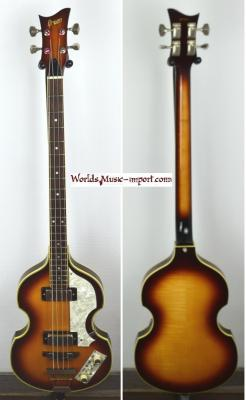 VENDUE... GRECO Violin Bass VB-500 Sunburst 1981 Beatles Japon *OCCASION*