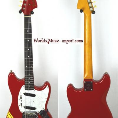 VENDUE... FENDER Mustang 73' competition stripes OFRD 2008 *OCCASION*