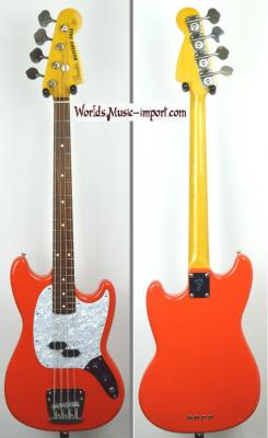 VENDUE... FENDER Mustang Bass MB-98' FRD Fiesta Red 1999 Japon *OCCASION*