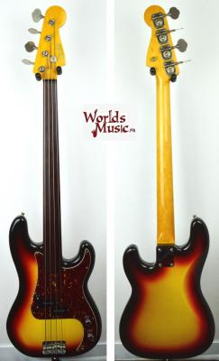 VENDUE... FENDER PB'62 FL 3CS Fretless 2006 'RARE' Hors-Catalogue Japon Import *OCCASION*