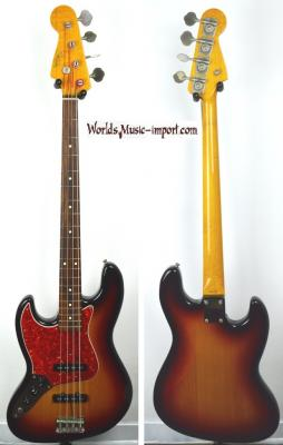 VENDUE... FENDER Jazz Bass JB'62 LH Gaucher 3TS 1998 Import japon  *OCCASION*