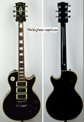 VENDUE... ARIA PRO II Les Paul CUSTOM HHH Black 1978 japon RARE Import *OCCASION
