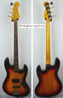 VENDUE... FENDER Jazz Bass 62'-US FL Fretless 3TS 2001 japon import *OCCASION*