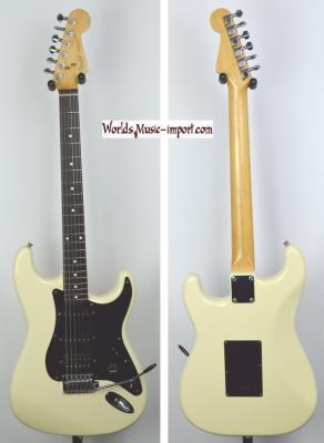 VENDUE...  FENDER Stratocaster Standard White HSS 1987 japon import *OCCASION*