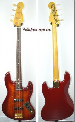 VENDUE... FENDER Jazz Bass JB'62G BBM Flame Top