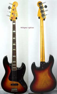 VENDUE.. FENDER Jazz Bass 75' Ash 3TS 1989 Japon Import *OCCASION*