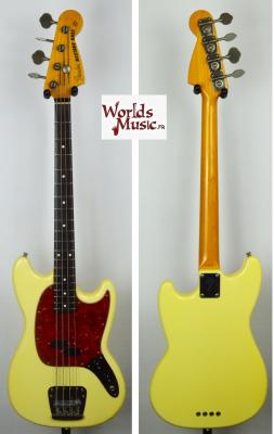 VENDUE... FENDER Mustang Bass MB-98' SC YWhite 2000 japon Import *OCCASION*