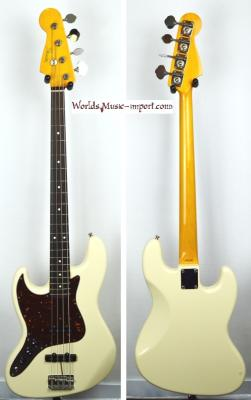 VENDUE... FENDER Jazz Bass 62' LH WHITE Gaucher 2014 Japon  *OCCASION*