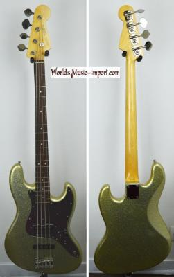 VENDUE... FENDER Jazz Bass 64' Gold sparkle 2007 RARE japon 'hors catalogue' import  *OCCASION*