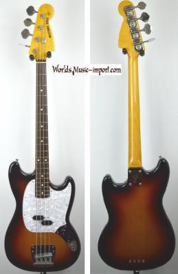 VENDUE... FENDER Mustang Bass MB'98 Sunburst 2005 japon RARE import *OCCASION*