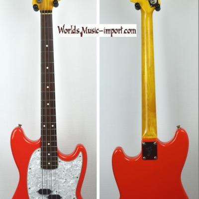 VENDUE... FENDER Mustang Bass MB'98 Fiesta Red '1ère série' 2000 Japon RARE import *OCCASION*