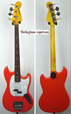 VENDUE... FENDER Mustang Bass MB'98 Fiesta Red '1ère série' 2000 Japon RARE import *OCCASION*