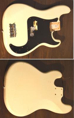VENDU... Corps FENDER Precision Bass MM 90's WHITE Vintage Import *OCCASION*