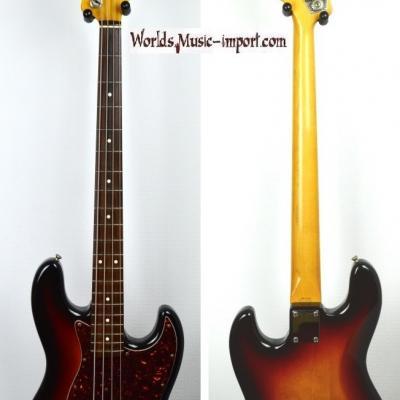 VENDUE... FENDER Jazz Bass 62' RI 3TS 1986 post JV Japon import  *OCCASION*