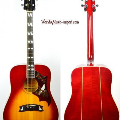 VENDUE... GRECO Acoustic 303 Hummingbird Cherry Sunburst 1973 RARE japon Import *OCCASION*