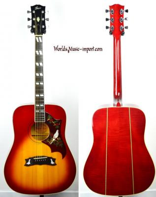 VENDUE... GRECO Acoustic 303 Hummingbird Cherry Sunburst 1973 RARE japon Import *OCCASION*